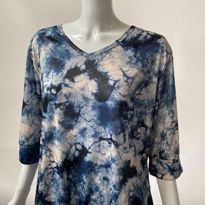 Tie Dye Look Top by Indigo Soul XL